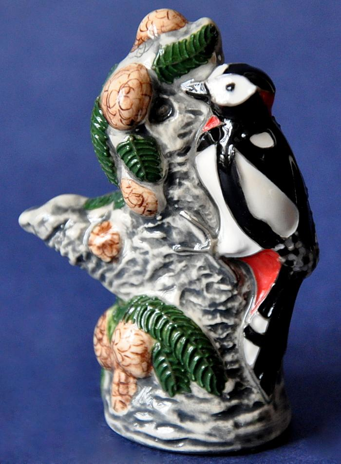 Moorcroft Pottery Great Spotted Woodpecker Model Rob Tabbenor Open Edition