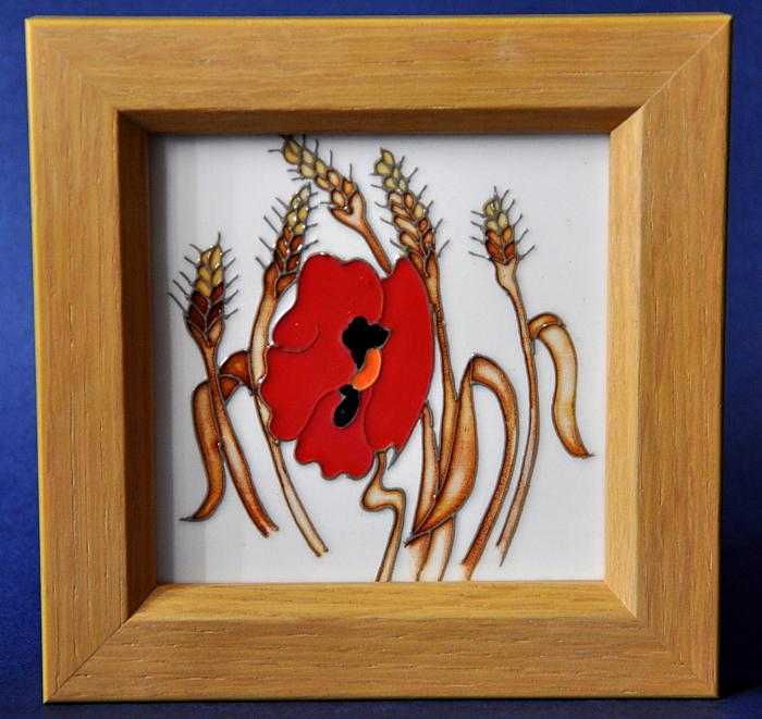 Moorcroft Pottery Harvest Poppy PLQ6 Emma Bossons Open Edition