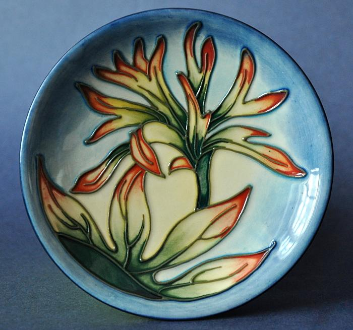 Moorcroft Pottery Indian Paintbrush 780/4 Philip Gibson Open Edition