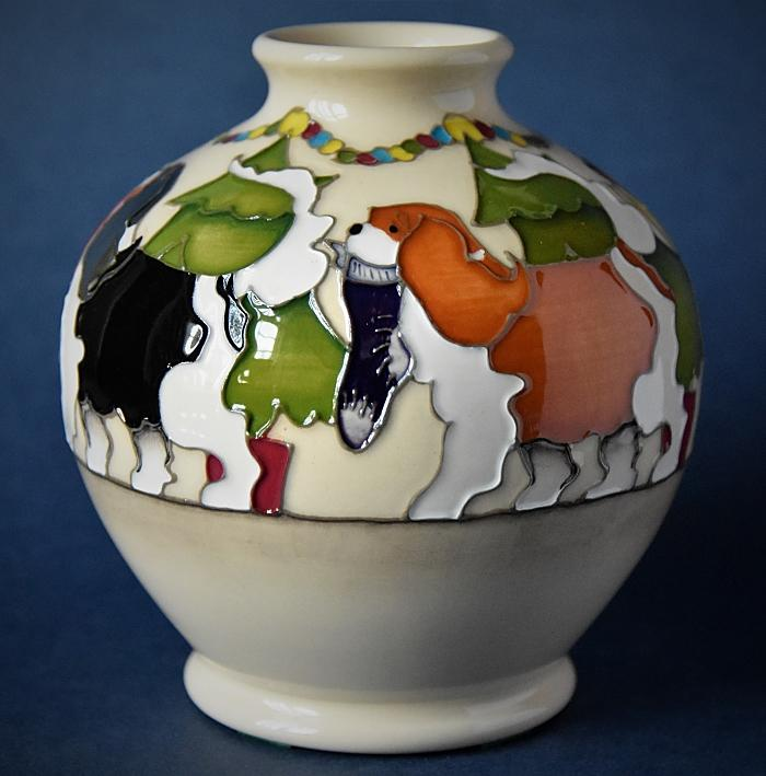 Moorcroft Pottery 41/4 King Charles Spaniel Vicky Lovatt Numbered Edition