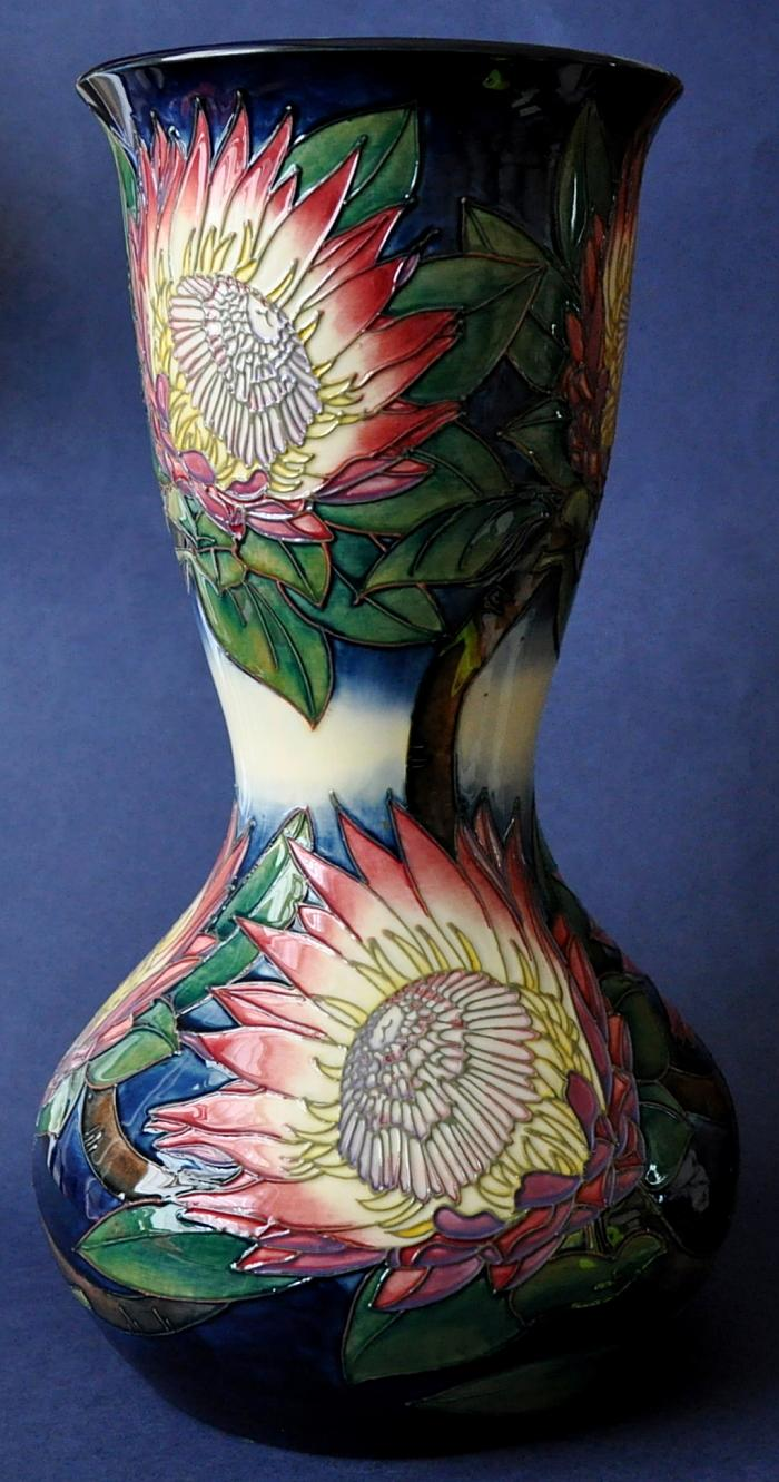 Moorcroft Pottery King Protea 304/15 Emma Bossons  Limited Edition of 100