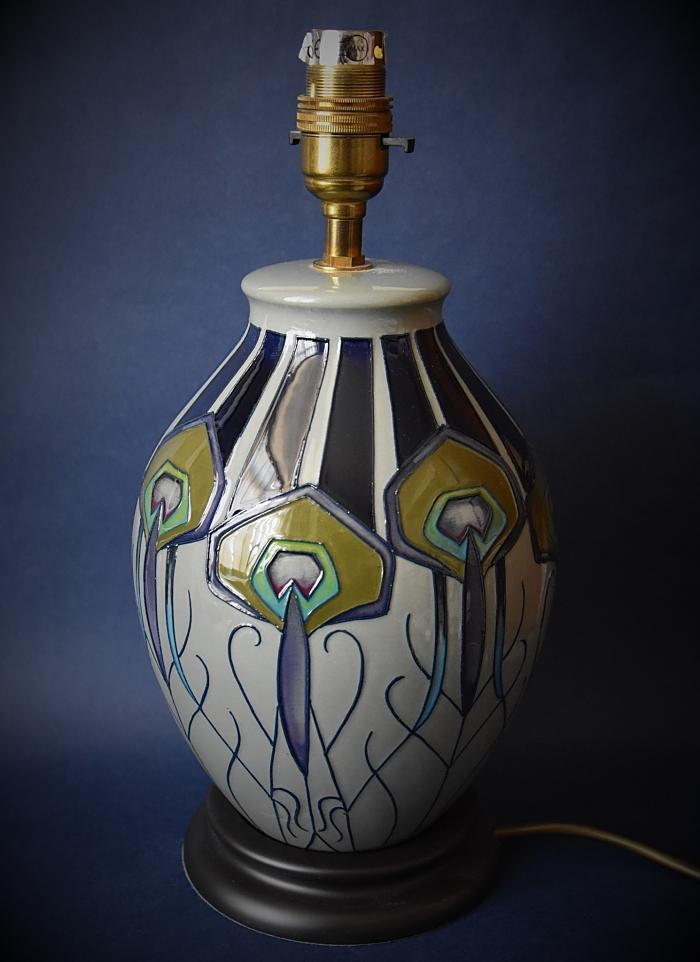 Moorcroft Pottery L3/8 Peacock Parade Lamp Nicola Slaney An Open Edition