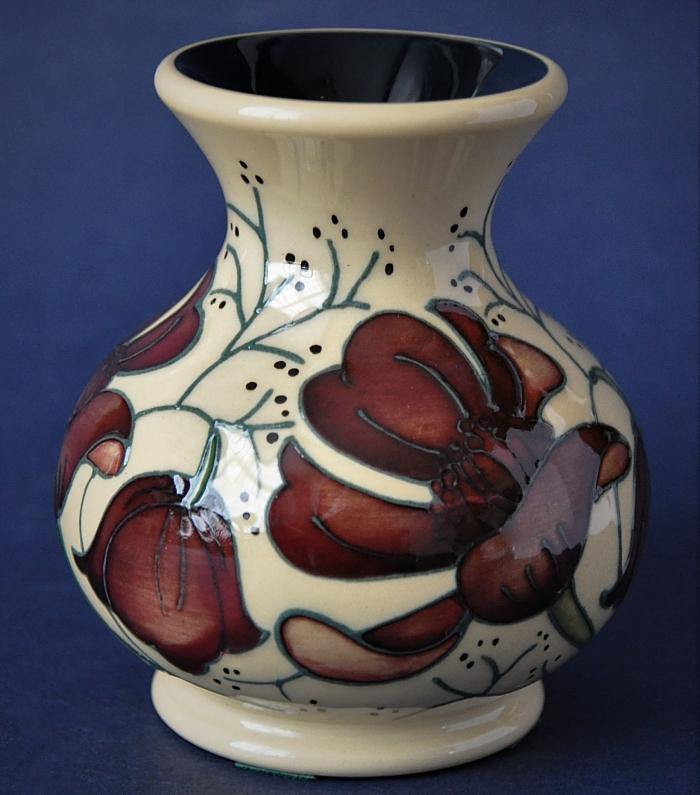 Moorcroft Pottery M1/3 Chocolate Cosmos Rachel Bishop Open Edition