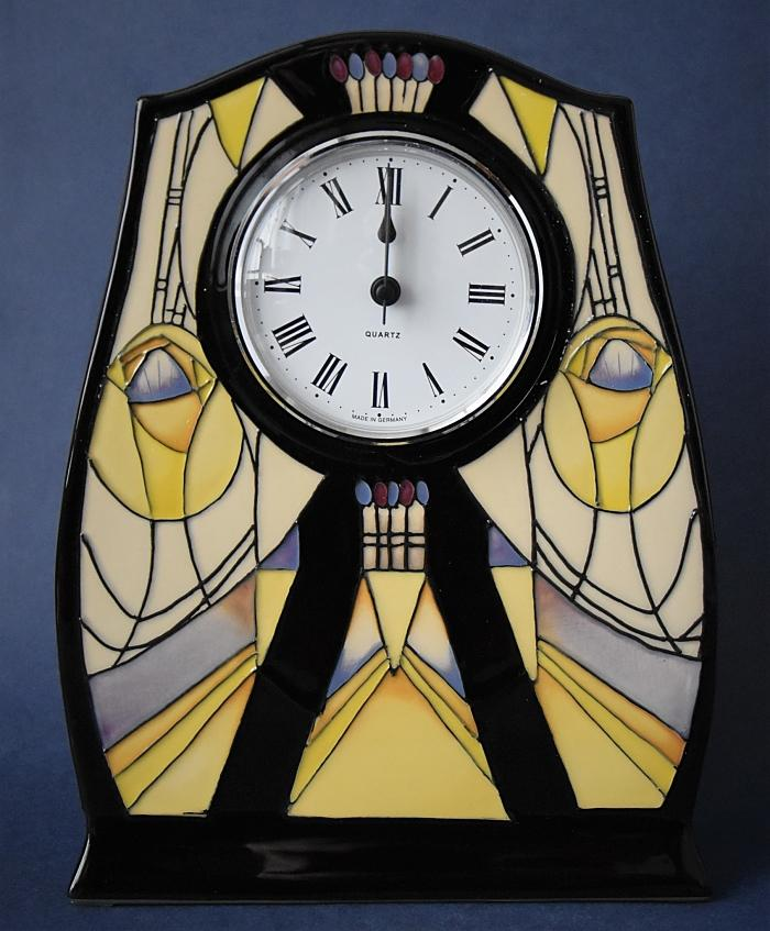 Moorcroft Pottery Mackintosh Collection Bassett-Lowke CL3 Clock Nicola Slaney Open Edition