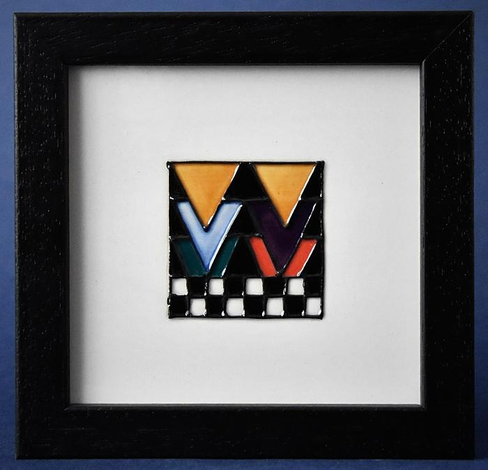 Moorcroft Pottery Mackintosh Collection Derngate Plaque One PLQ6 Emma Bossons Open Edition