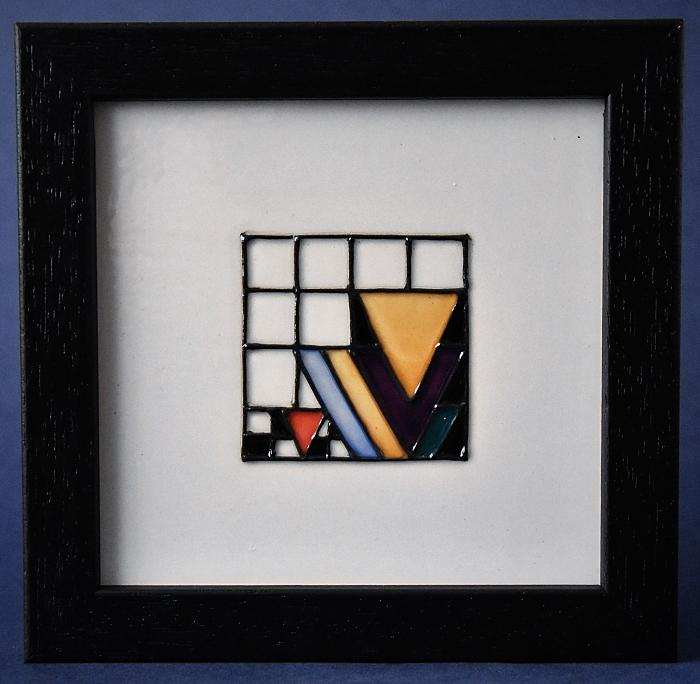 Moorcroft Pottery Mackintosh Collection Derngate Plaque Two PLQ6 Emma Bossons Open Edition Order by phone +44 01789 269405