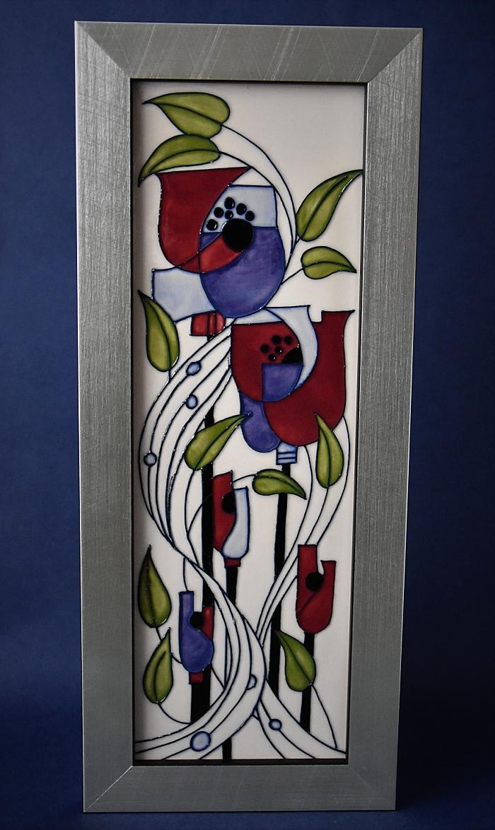 Moorcroft Pottery Mackintosh Collection Miillside Plaque PLQ3 Rachel Bishop Numbered Edition