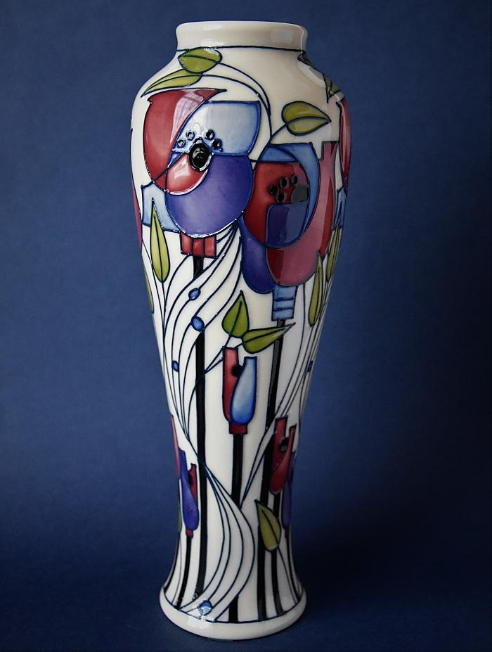 Moorcroft Pottery Mackintosh Collection Millside Vase 121/10 Rachel Bishop Numbered Edition