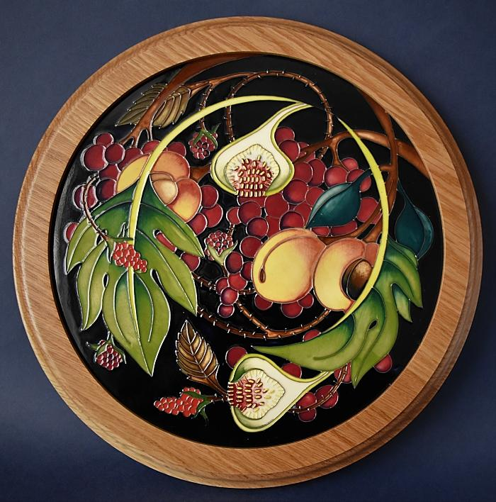 Moorcroft Pottery Queen's Choice PLQ 18 Plaque Emma Bossons  Open Edition