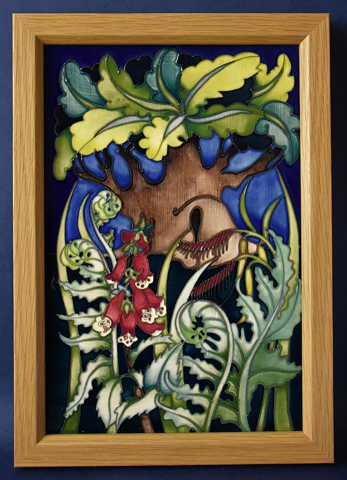 Moorcroft Pottery PLQ2 Major Oak Plaque Emma Bossons A Limited Edition of 30