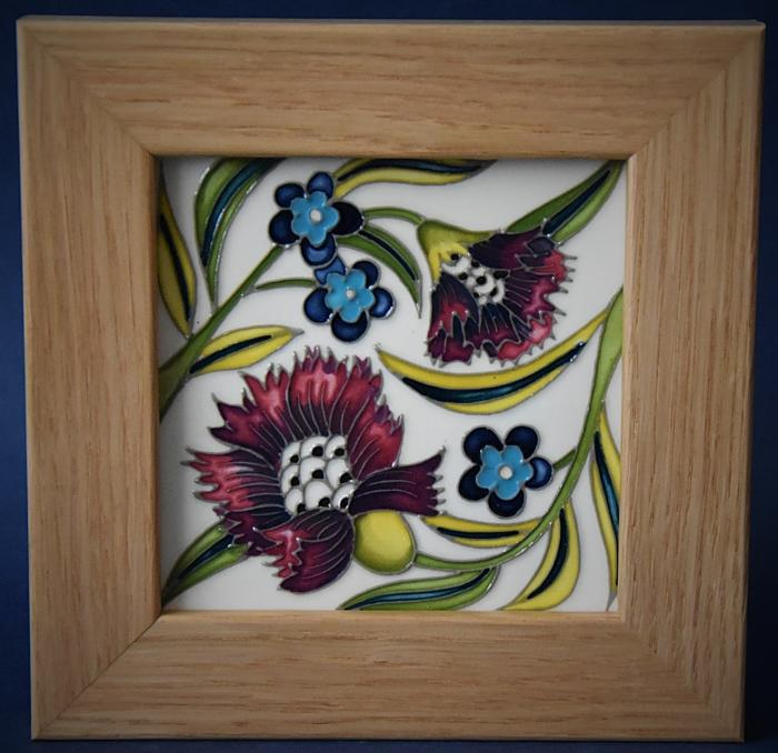 Moorcroft Pottery PLQ6 De Morgan Forget-me-Not Plaque Kerry Goodwin An Open Edition