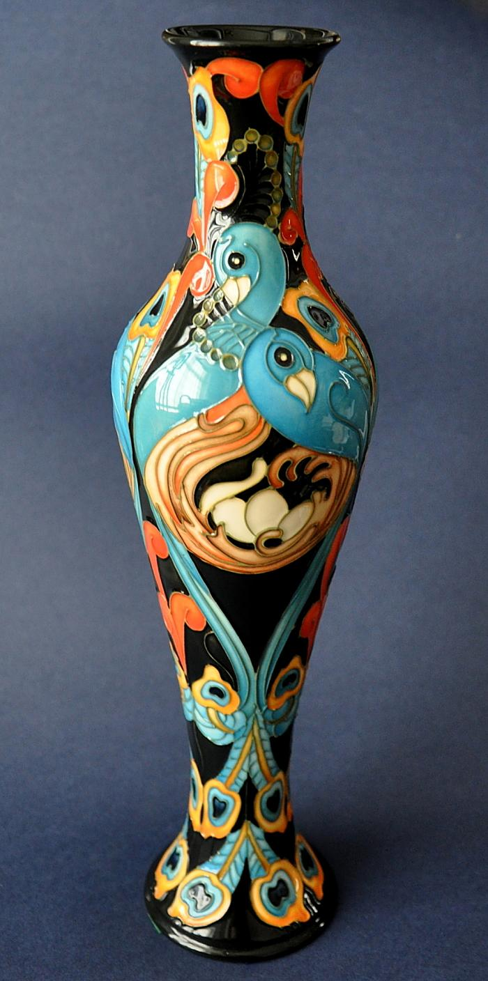 Moorcroft Pottery Proud Peacocks 138/12 Kerry Goodwin Limited Edition of 200