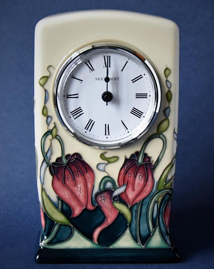 Moorcroft Pottery Rachel Bishop Collection Pretty Penny CL1 Clock Open Edition