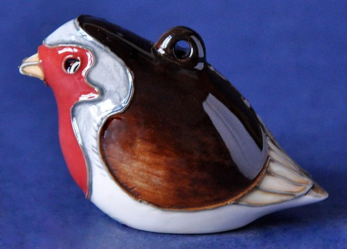 Moorcroft Pottery Christmas Robin MOD15 Open Edition