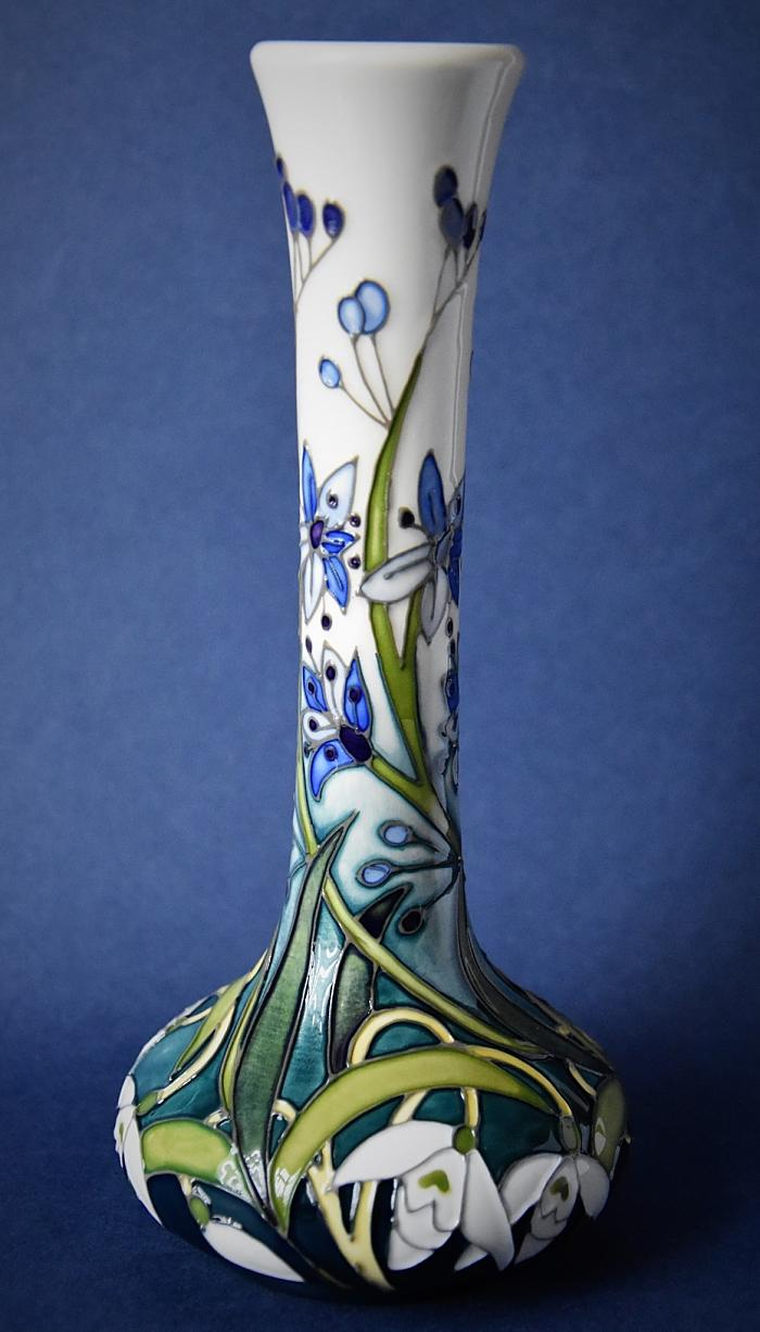Moorcroft Pottery 99/8 Snowdrop Collection Mrs Macnamara Nicola Slaney Numbered Edition