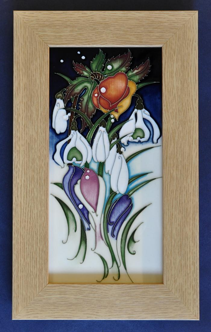 Moorcroft Pottery Snowtime Plaque