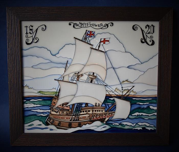 Moorcroft Pottery PLQ10 Plaque The Mayflower Paul Hilditch A Limited Edition of 15
