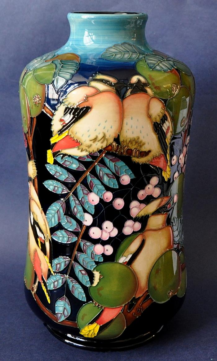 Moorcroft Pottery Waxwing Paul Hilditch