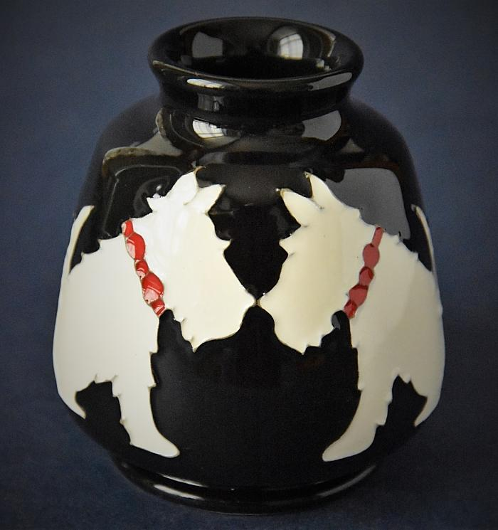 Moorcroft Pottery 198/3 Westie Nicola Slaney An Open Edition