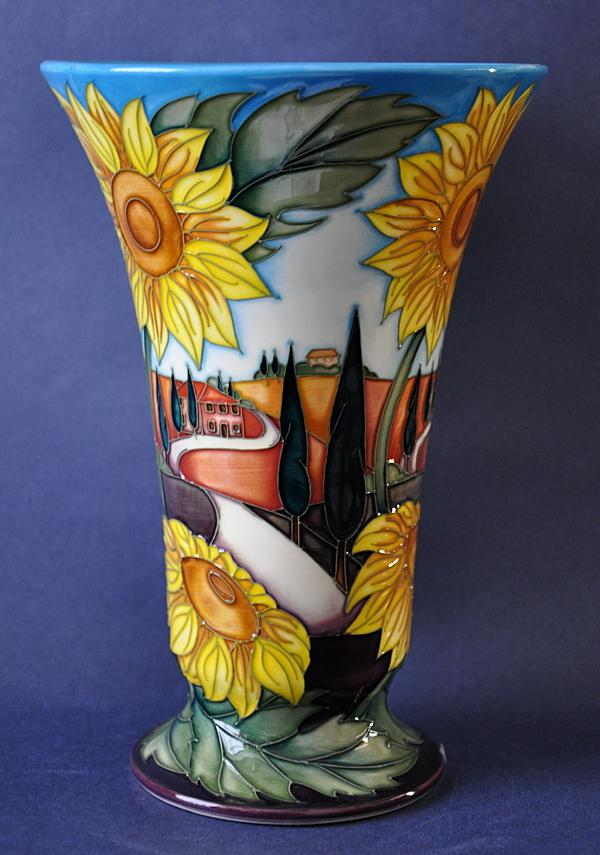 Moorcroft Pottery White Road To Tuscany