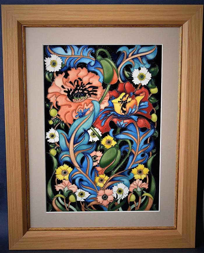 Moorcroft Pottery PLQ13 Arts and Crafts Plaque William Morris Collection Rachel Bishop A Numbered Edition