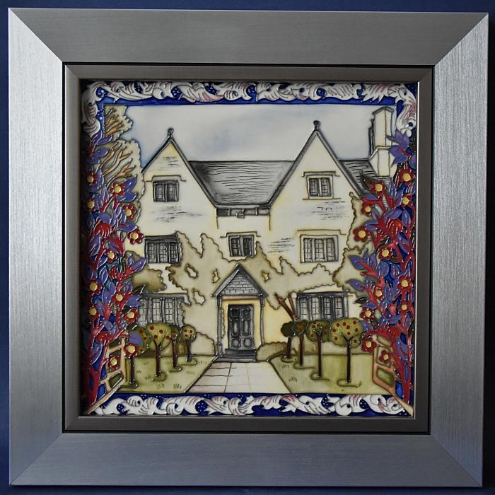 Moorcroft Pottery PLQ8 Kelmscott Manor Plaque William Morris Collection Helen Dale A Limited Edition of 30