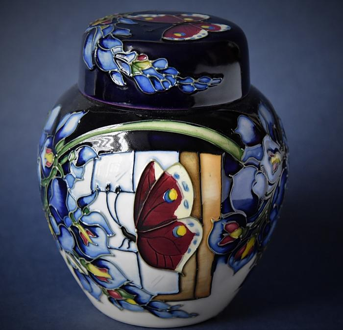 Moorcroft Pottery Wisteria Flutter 769/4 Clock Kerry Goodwin  Open Edition