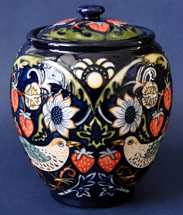 Moorcroft Pottery Strawberry Thieves Return
