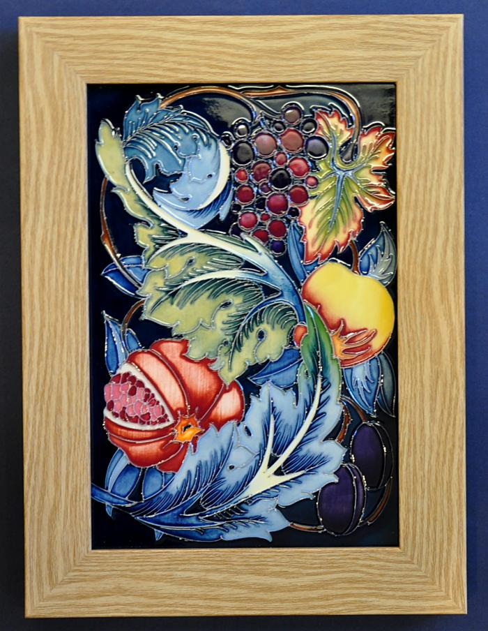 Moorcroft Pottery Study in Fruit Tile Plaque