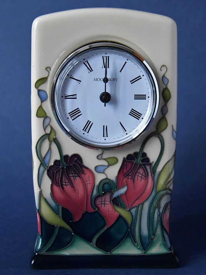 Moorcroft Pottery Rachel Bishop Collection Clock CL1 Pretty Penny Open Edition