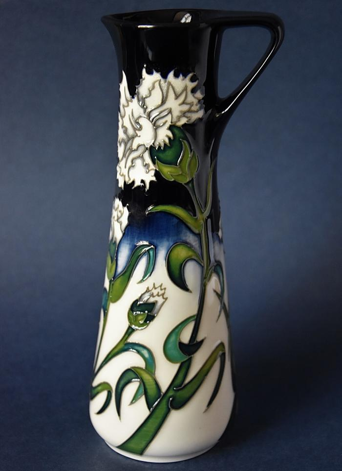 Moorcroft Pottery White Carnation JU7 Nicola Slaney  Limited Edition of 75