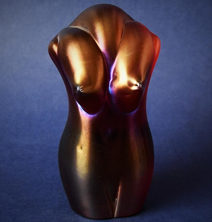 Okra Glass Red Torso by Sarah Cowan A Limited Edition of 15