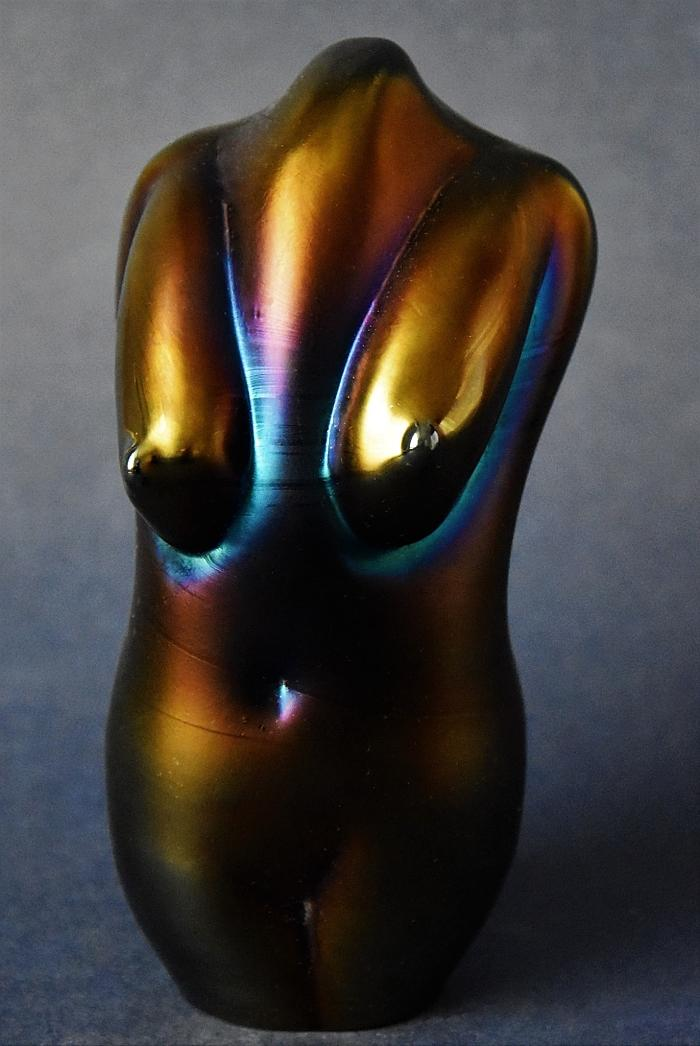 Okra Glass Torso by Sarah Cowan A Limited Edition of 15