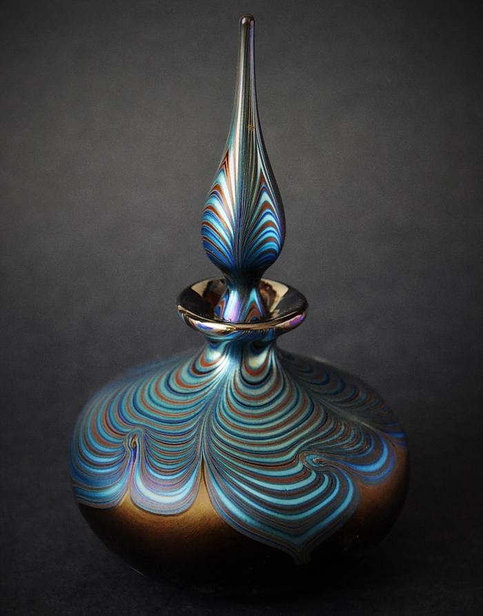 Richard Golding Glass Squat Perfume Bottle Nebula I