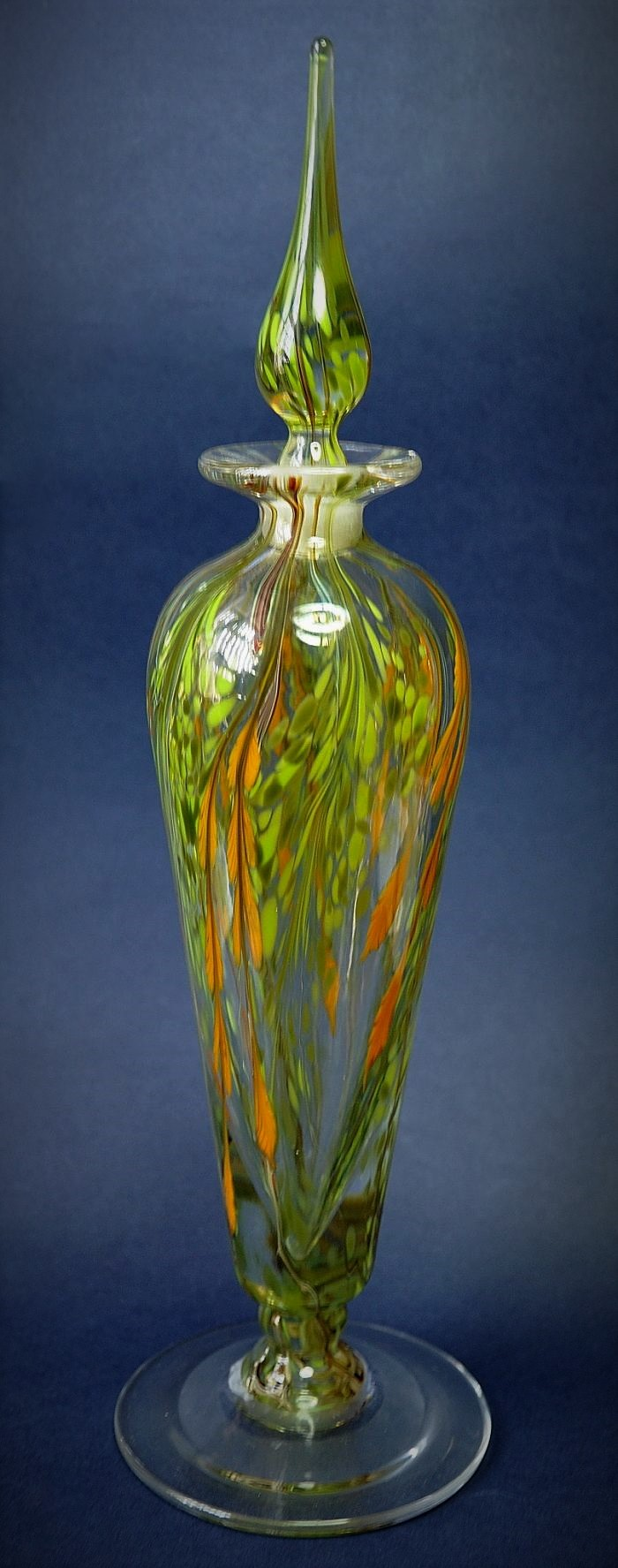 Richard Golding Station Glass Green and Yellow Perfume