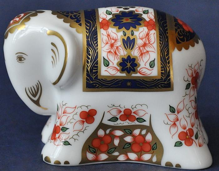 Royal Crown Derby Indian Elephant Baby