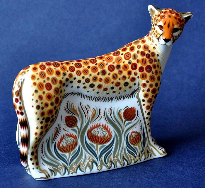 Royal Crown Derby Cheetah Mother