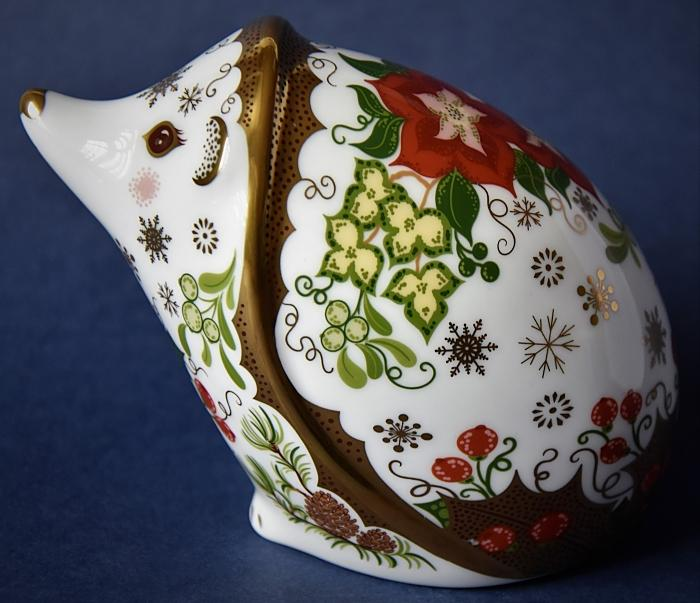 Royal Crown Derby Christmas Hedgehog