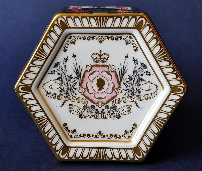 Royal Crown Derby Longest Reigning Monarch Commemorative Imari Keepsake Box Limited Edition of 250