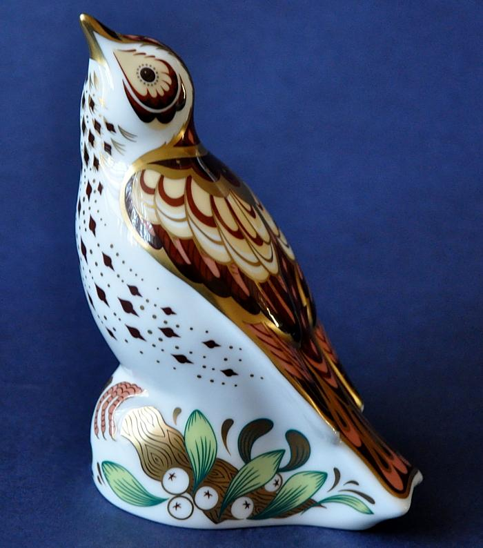 Royal Crown Derby Mistle Thrush