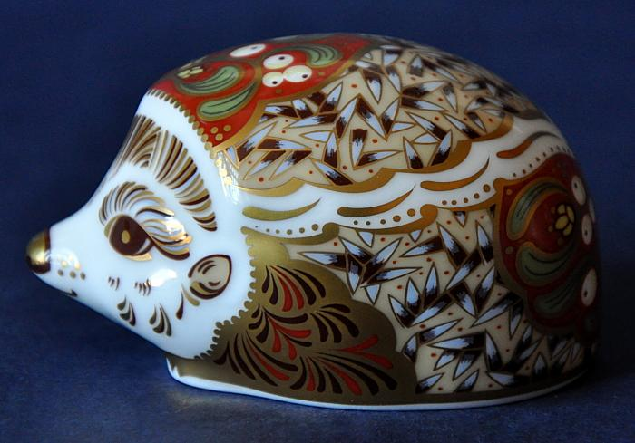 Royal Crown Derby Mistletoe Hedgehog