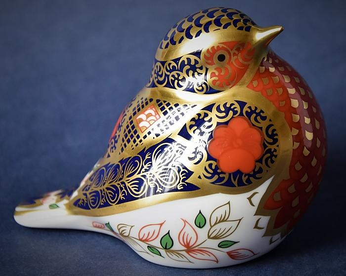 Royal Crown Derby Old Imari Solid Gold Band Robin