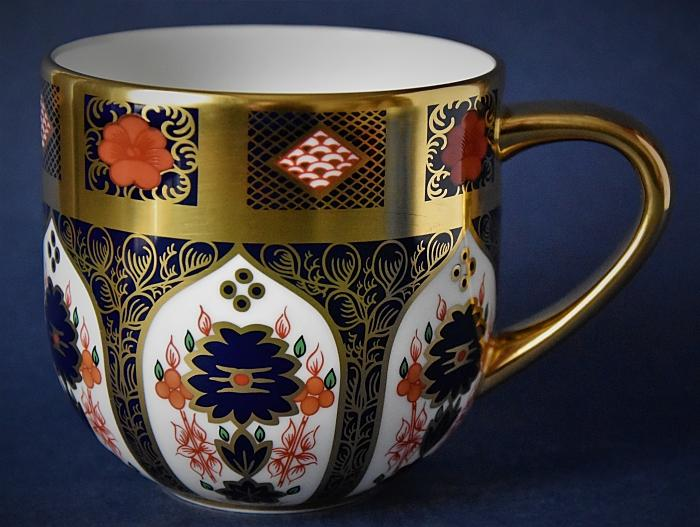 Royal Crown Derby Old Imari Solid Gold Band Urban Mug