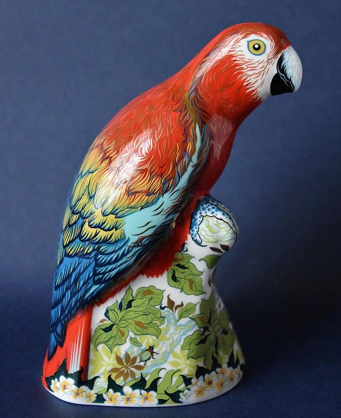 Royal Crown Derby Scarlet Macaw