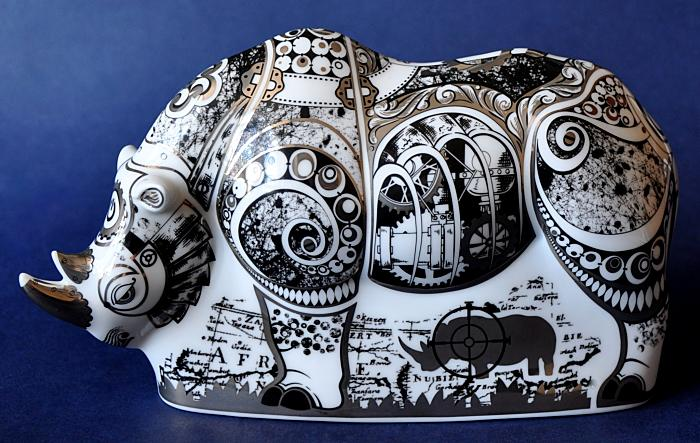 Royal Crown Derby Steampunk Rhino