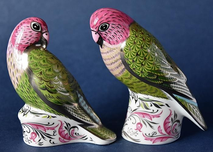 Royal Crown Derby The Majestic Love Birds Pairs