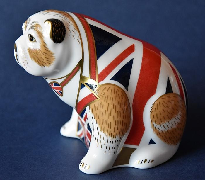 Royal Crown Derby Union Jack Bulldog