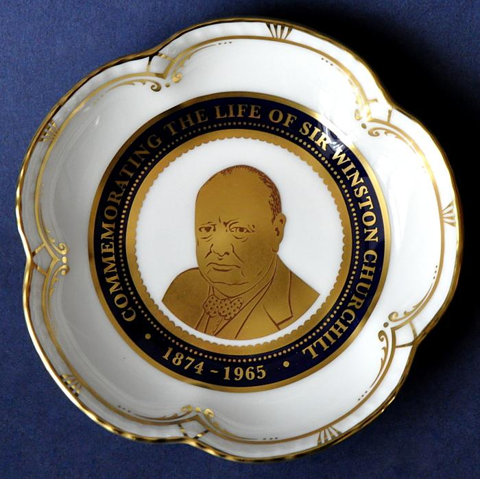 Royal Crown Derby Winston Churchill Five Petal Tray