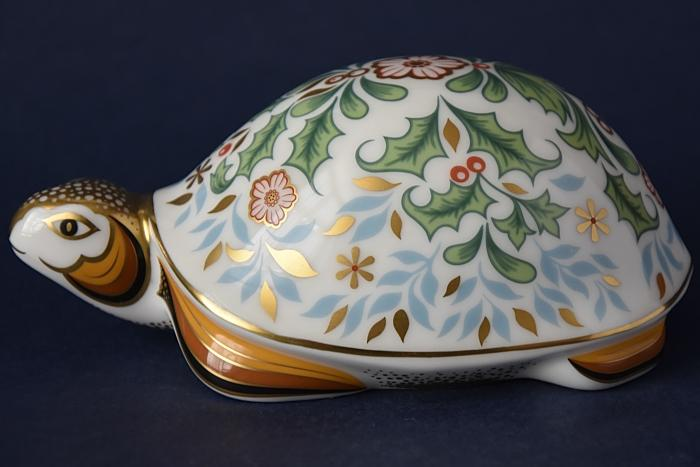 Royal Crown Derby Winter Tortoise