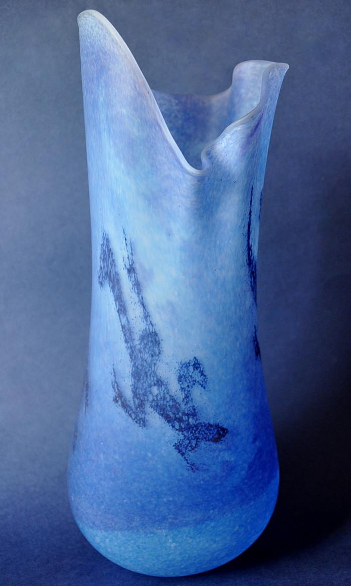 Siddy Langley Blue Prindi Tall Freeform Vase